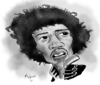 Cartoon: Jimi Hendrix (small) by Mark Anthony Brind tagged mark,brind,jimi,hendrix,caricature