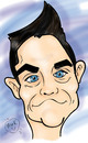 Cartoon: Robbie Williams (small) by Mark Anthony Brind tagged mark,anthony,caricature,robbie,williams,take,that