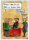 Cartoon: Ober in der Suppe (small) by spass-beiseite tagged restaurant,ober,karte,speisekarte,essen,trinken,geschäft,wirt,glas,bier,beiseite,spass,unterhaltung,panel,fun,illustration,design,pointe,kunst,comicstrips,comictagebuch,tagebuch,comic,cartoons,cartoon,witz,bildwitz