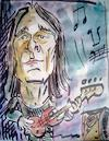 Cartoon: dado topic (small) by kolle tagged dado,topic,bass,guitar,player,in,group,band,time