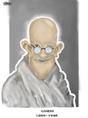 Cartoon: gandhi (small) by sziwery tagged gandhi