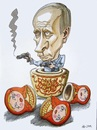 Cartoon: Putin (small) by caknuta-chajanka tagged politics,russia
