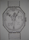 Cartoon: time manager (small) by caknuta-chajanka tagged religion,sacrifice,watch,time,manager