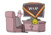 Cartoon: War and television (small) by martirena tagged war,television,news