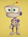Cartoon: A random Robot (small) by kellerac tagged kellerac maria keller cartoon caricatyra robot mechanical cute chibi