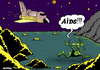 Cartoon: Aids in space (small) by Dubovsky Alexander tagged aids,space,shutle,iti
