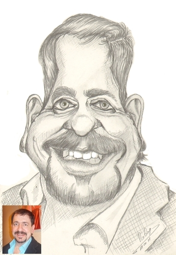 Cartoon: Jean Deras (medium) by cabap tagged caricature