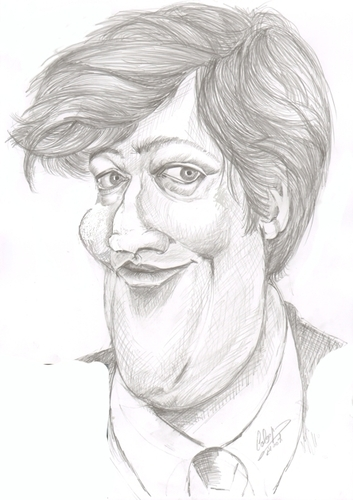Cartoon: Stephen Fry (medium) by cabap tagged caricature