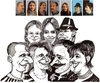 Cartoon: A family . (small) by cabap tagged caricature