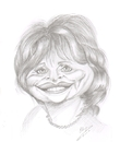 Cartoon: Cindy Williams (small) by cabap tagged caricature