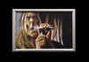 Cartoon: Iggy Pop acrylic (small) by szomorab tagged iggy pop stoogees godfather of punk rock music alternative