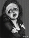 Cartoon: Edith Piaf (small) by tobo tagged edith,piaf,caricature