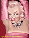 Cartoon: Marilyn Monroe (small) by tobo tagged marilyn monroe caricature