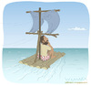 Cartoon: Castaway (small) by Wilmarx tagged desert,island