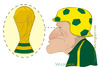 Cartoon: Estilo Dunga de treinar (small) by Wilmarx tagged football,caricature,sport
