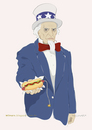 Cartoon: I have a hot dog for you (small) by Wilmarx tagged uncle,sam,hot,dog,world,hunger,imperialism