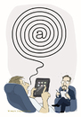 Cartoon: neurotic web spiral (small) by Wilmarx tagged psi,internet