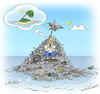 Cartoon: Planeta descartavel (small) by Wilmarx tagged desert,island,nature