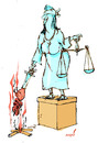 Cartoon: justice (small) by Miro tagged justice