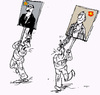 Cartoon: Leaders (small) by Miro tagged leaders