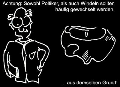Cartoon: Wechsel (medium) by Newbridge tagged wahl,politik,politiker,windeln,wählen