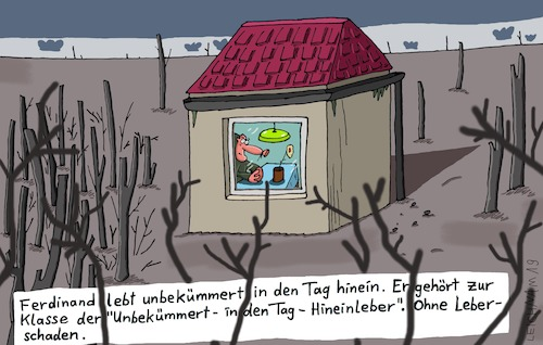 Cartoon: Tag (medium) by Leichnam tagged tag,ferdinand,unbekümmert,klasse,leber,leberschaden,leichnam,leichnamcartoon