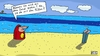 Cartoon: He! (small) by Leichnam tagged he,sand,füße,strand,hilferuf