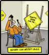 Cartoon: Highway Sign Writers Block (small) by cartertoons tagged writer,signs,highway,creativity