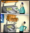 Cartoon: Loose Change (small) by cartertoons tagged change,machine,money,sofa,couch,coins,technology