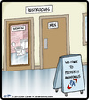 Cartoon: Perverts Anonymous (small) by cartertoons tagged perverts,voyeurism,bathrooms,restrooms,sex,women,men,signs,love