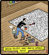 Cartoon: Pollock By Numbers (small) by cartertoons tagged jackson,pollock,painter,painting,fine,art