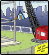 Cartoon: Sticky Construction (small) by cartertoons tagged construction,work,glue,crane,building