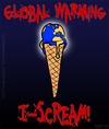 Cartoon: I-SCREAM! (small) by sdrummelo tagged cambio climatico global warming ponle cara al gelato terra globo world