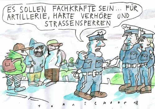 Cartoon: Fachkräfte (medium) by Jan Tomaschoff tagged migration,kriege,migration,kriege