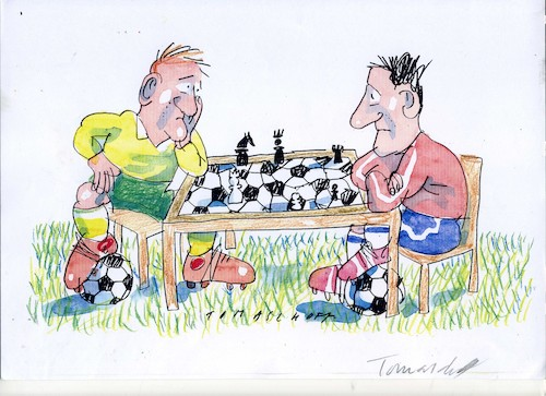 Cartoon: Fussball (medium) by Jan Tomaschoff tagged fussball,fussball