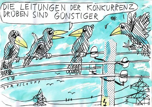 Cartoon: Leitungen (medium) by Jan Tomaschoff tagged strom,energie,wende,strom,energie,wende