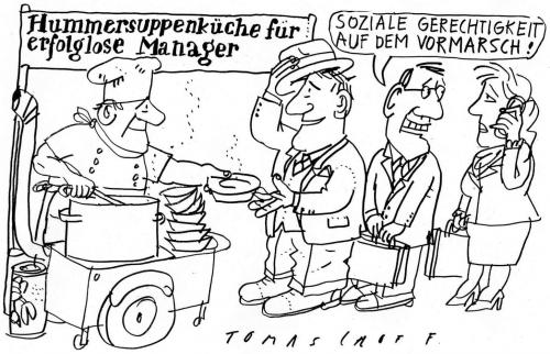 Cartoon: Lobster Soup (medium) by Jan Tomaschoff tagged hummer,suppe,armut,poverty