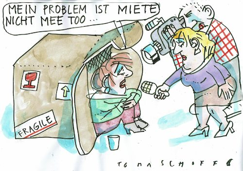 Cartoon: Miete (medium) by Jan Tomaschoff tagged miete,wohnungsnot,miete,wohnungsnot