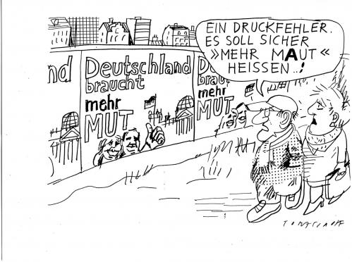 Cartoon: Mut (medium) by Jan Tomaschoff tagged konjunktur,2009,konsum