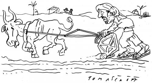 Cartoon: Oil Farmer (medium) by Jan Tomaschoff tagged öl,oil,biosprit