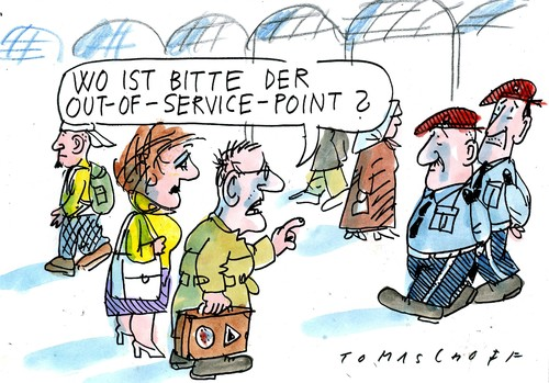 Cartoon: out-of-service-point (medium) by Jan Tomaschoff tagged bahn,bahn