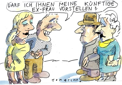 Cartoon: Partnerschaft (medium) by Jan Tomaschoff tagged ehe,partnerschaft,trennung,ehe,partnerschaft,trennung