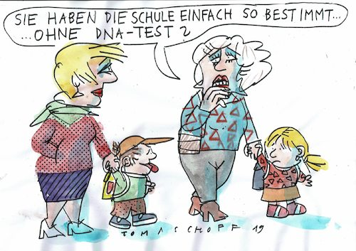 Cartoon: Schule (medium) by Jan Tomaschoff tagged begabung,schule,gene,karriere,begabung,schule,gene,karriere