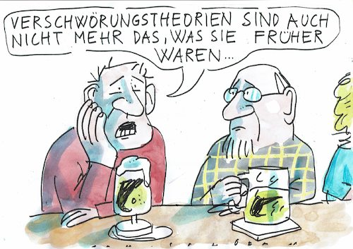 Cartoon: Verschwörung (medium) by Jan Tomaschoff tagged verschwörungstheorien,verschwörungstheorien