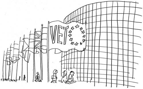 Cartoon: Veto (medium) by Jan Tomaschoff tagged europa