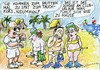 Cartoon: Urlaub (small) by Jan Tomaschoff tagged routine,erholung,tourismus