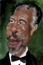 Cartoon: Morgan Freeman color (small) by MRDias tagged caricature