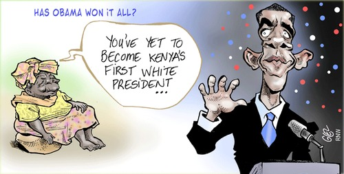 Cartoon: Obama (medium) by Damien Glez tagged obama,africa