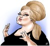 Cartoon: Adele (small) by Damien Glez tagged adele,singer,music