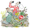 Cartoon: Modern laxity (small) by Damien Glez tagged laxity,navel,social,networks,selfie,environment,garbage,waste